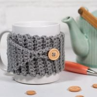 Buttoned Cup Cozy by Lindsey Dale