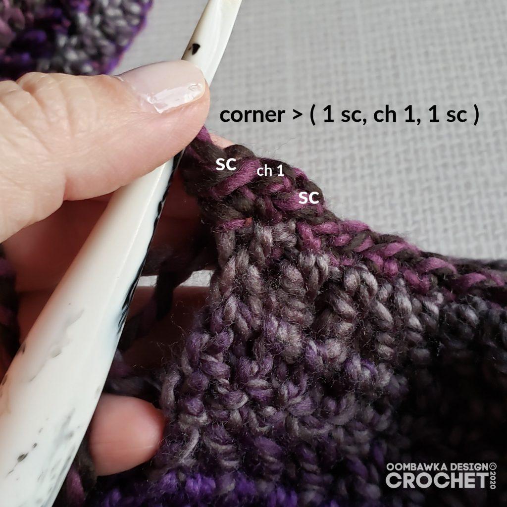 Corner - Ametrine Hooded Pocket Scarf Tutorial - ODC2020