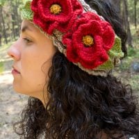 CrochetPoppyFlower Featured at Free Pattern Friday ODC