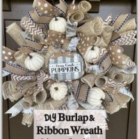 DIY Burlap and Ribbon Wreath - Featured Wednesday Link Party