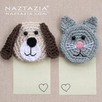 Dog and Cat Magnet Patterns designed by Naztazia