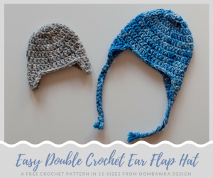 Simple Double Crochet Ear Flap Hat