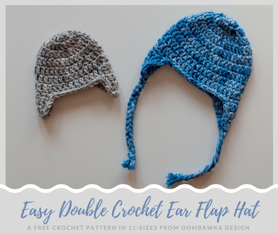 Simple Double Crochet Ear Flap Hat Pattern Oombawka Design Crochet