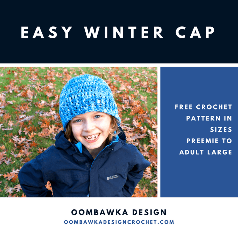 Easy Winter Cap Free Pattern ODC