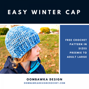Easy Winter Cap Free Pattern Side View ODC