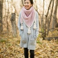 Featured at Free Pattern Friday Crosswinds Triangle Scarf by Stephanie Jessica Lau