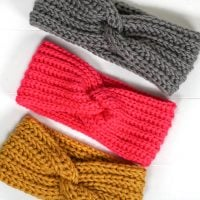 Featured Free Pattern Friday: Faux Knit Twisted Ear Warmer by Lindsey Dale