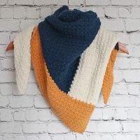 Featured at FPF Color Block Cold Triangle Scarf