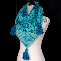 Once in a Blue Moon Triangle Scarf by Ashley Parker