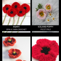 Free Poppy Crochet Patterns for Remembrance Day