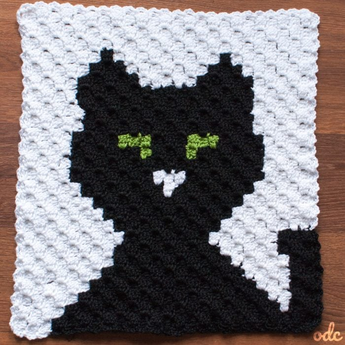 Halloween C2C Cat Panel Free Pattern ODC
