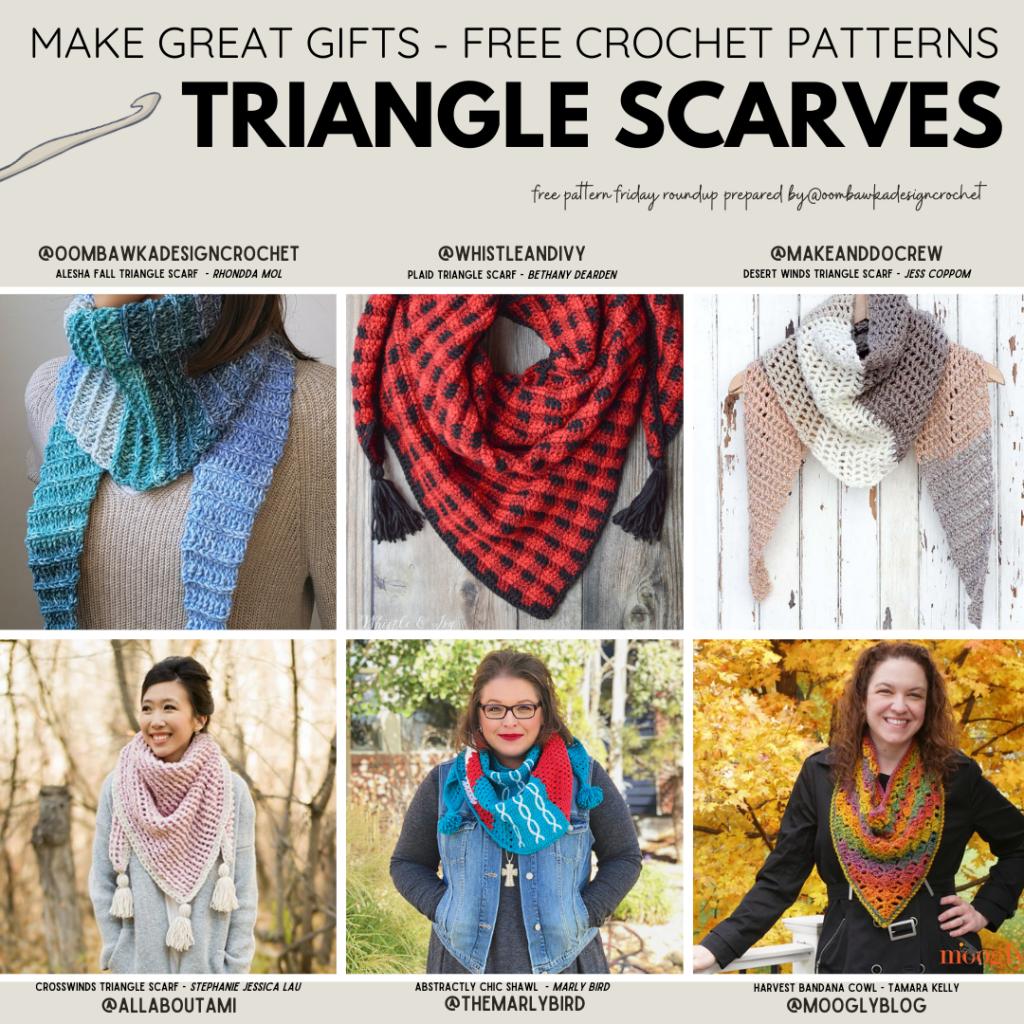 Make Great Gifts Free Crochet Patterns Triangle Scarves Free Pattern Friday Insta