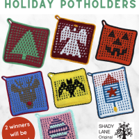 Mosaic Crochet Holiday Potholder ePattern Giveaway ends Oct 24 2020 1159pm et
