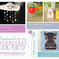 Party 369 Features - Little Rain Cloud - C2C Hippo Square - 3 DIY Cereal Box Sculptures