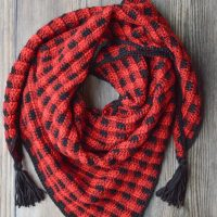 Plaid Triangle Scarf - Featured at FPF