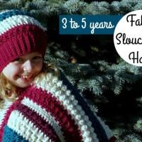 Fall Slouch Hat | 3-5 years Free Crochet Pattern