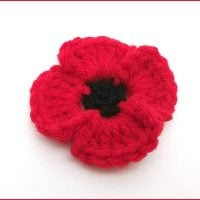 Poppy Flower Featured at Free Pattern Friday