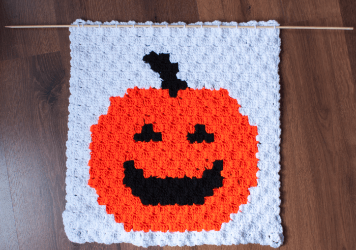Pumpkin Panel ODC C2C Free Halloween Pattern 1