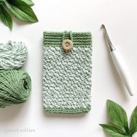 Sage Phone Pouch by Sweet Softies