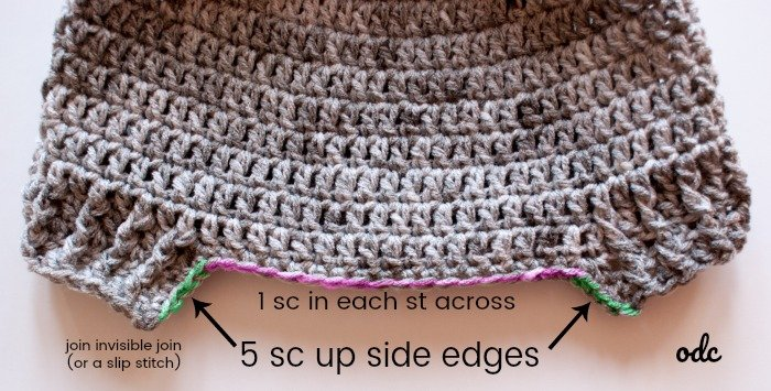 Simple Winter Cap finishing instructions
