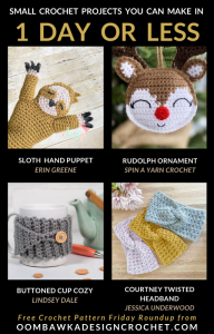 Small Crochet Projects you can make in 1 day or less - free pattern roundup