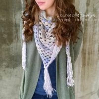 Featured at FPF Boho Triangle Scarf by Carolyn Calderon