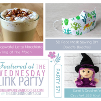 Wednesday Link Party 371 Features Stroopwafel Latte Macchiato - Crochet Witch - 3D Face Mask - square