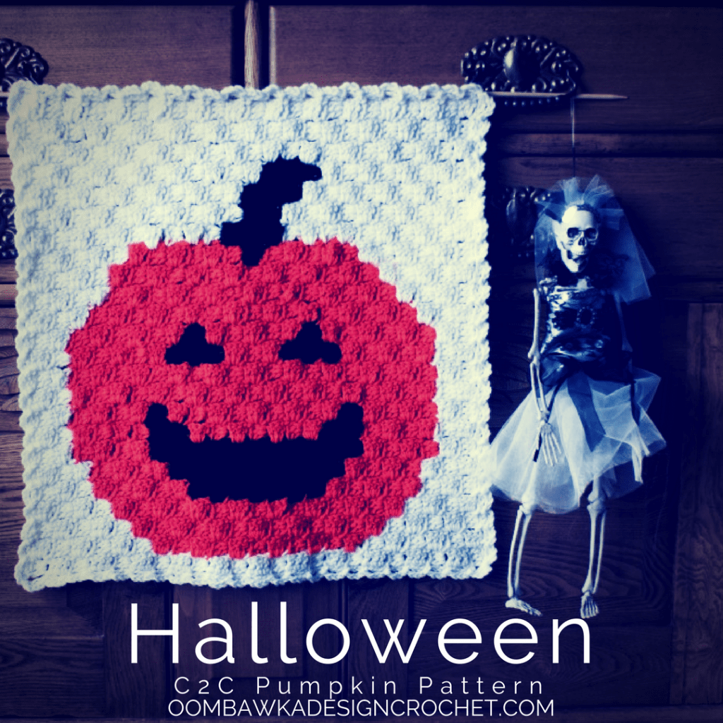 c2c Halloween Pumpkin Panel Free Pattern
