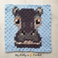 hippo c2c square Featured at Wednesday Link party 369