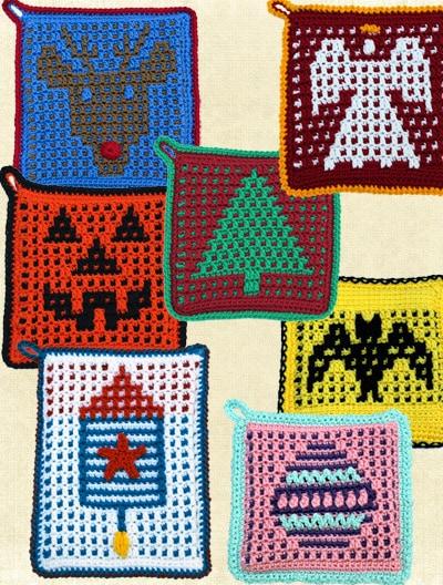 Mosaic Crochet Holiday Potholder ePatterns - ShadyLaneOriginalCrochetDesigns