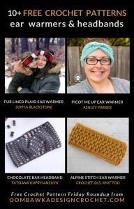 10 Free Crochet Ear Warmer Patterns - Free Pattern Friday