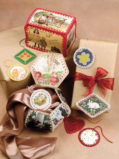 Post Card Gift Tags and Boxes