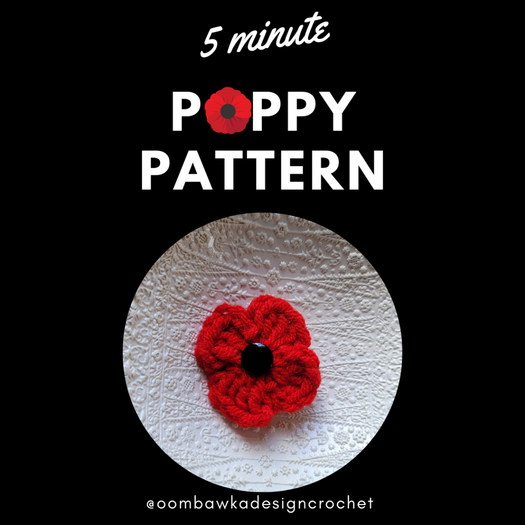 5 Minute Poppy Pattern from Oombawka Design Crochet.