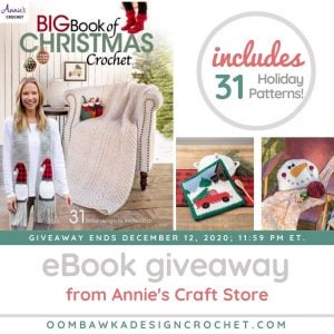 Big Book of Christmas Crochet 2020 Giveaway ends Dec 12 2020 1159 pm ET