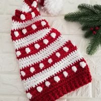 Bobbles and Stripes Cap - Featured at Free Pattern Friday