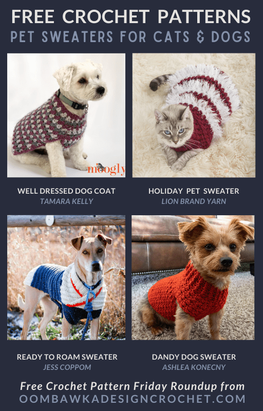 Crochet Pet Sweaters - Free Patterns