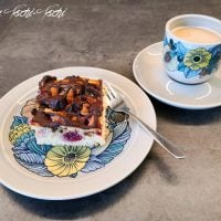 Delicious Cherry Cake with Dominos - Wednesday Link party