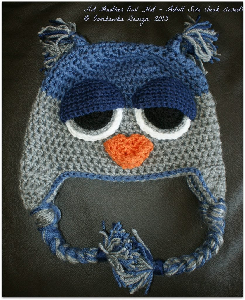 Not Another Owl Hat - Child to Adult Sizes