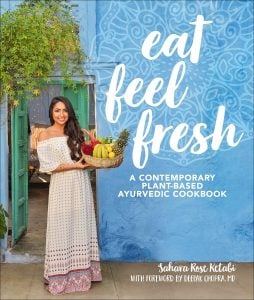 Cover - Eat Feel Fresh. DK Book Review by Rhondda Mol Oombawka Design