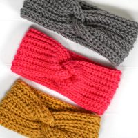 Faux Knit Twisted Earwarmer - Featured Free Pattern Friday