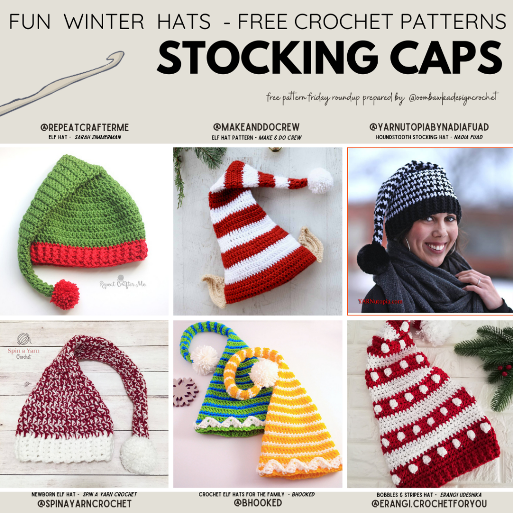 Free Crochet Stocking Cap Patterns at Free Pattern Friday with ODC