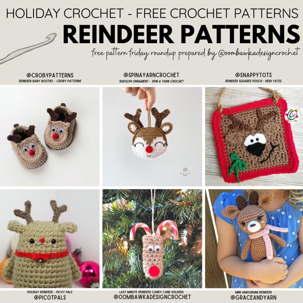Free Reindeer Crochet Patterns - Free Pattern Friday