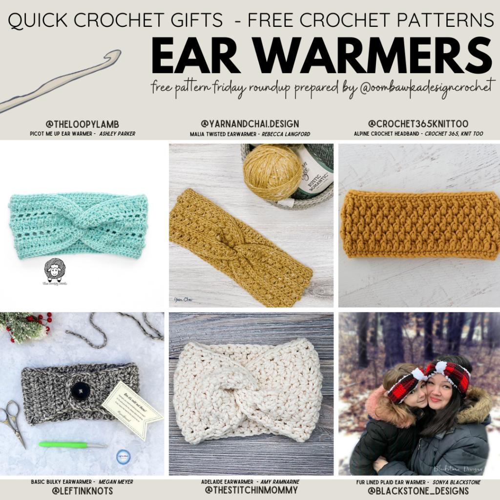 Free Pattern Friday - Crochet Ear Warmer Patterns - ODC