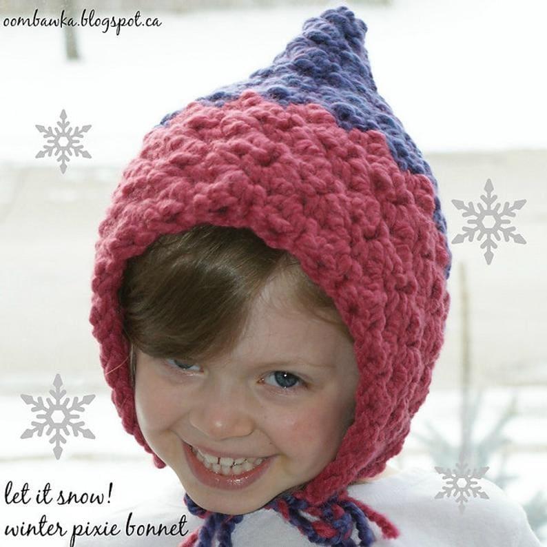 Let it Snow Pixie Bonnet