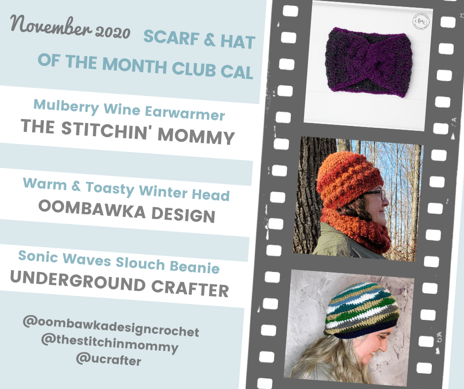 November Hat of the Month Club CAL Insta