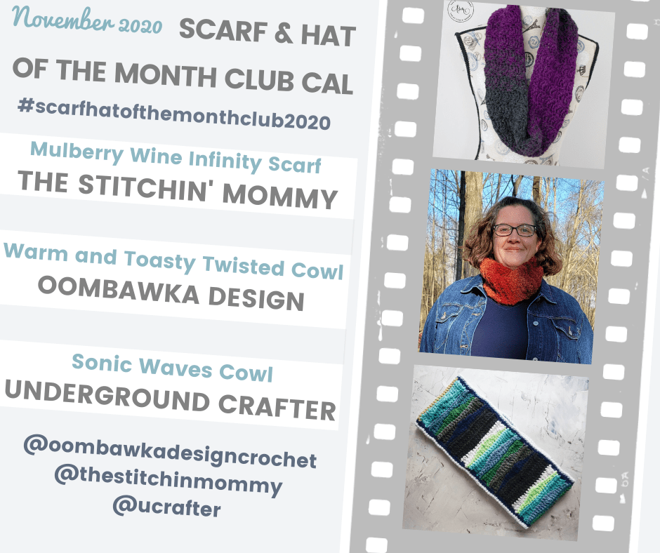 November Scarf of the Month Club CAL with @oombawkadesigncrochet @thestitchinmommy @ucrafter