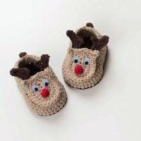Reindeer Baby Booties -FPF