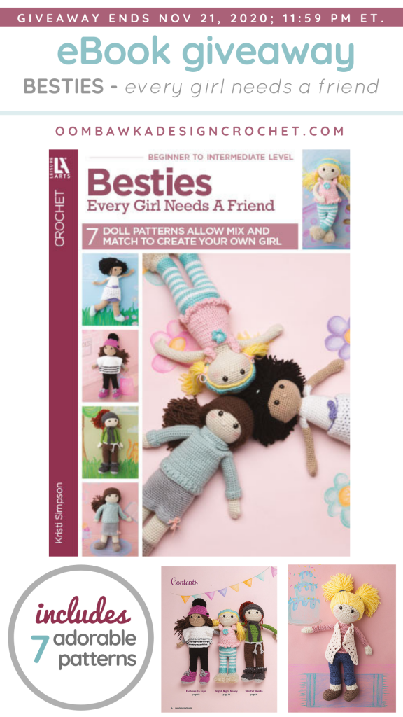Review and Giveaway - Besties from Leisure Arts - at Oombawka Design Crochet