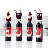 Santa and Reindeer Bottle Toppers Yarnspirations - FPF