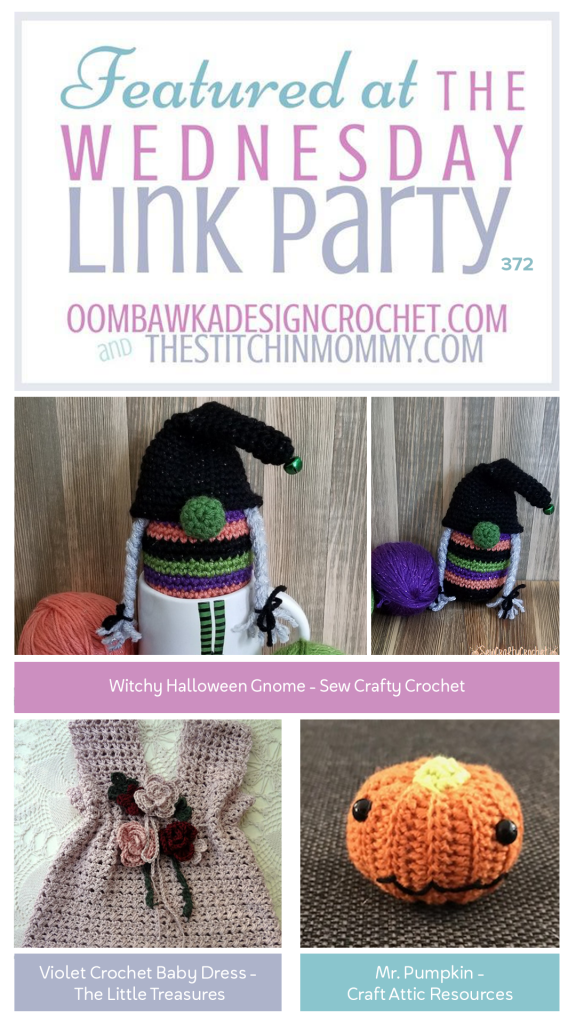 Wednesday Link Party 372 Features Witchy Halloween Gnome - Violet Baby Dress - Mr Pumpkin